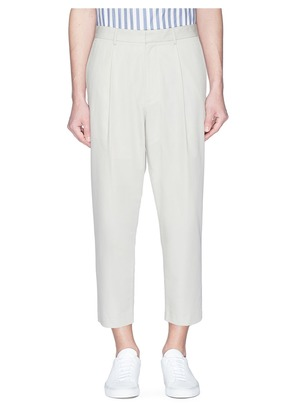'Sebastian' cotton-wool poplin pants