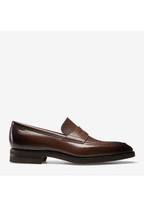 Wes Brown, Mens kid leather loafer in coffee Bally