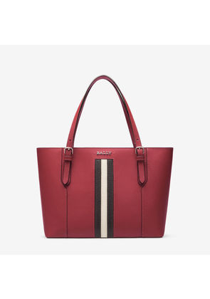 Bally Supra Small Red, Women's leather tote in garnet