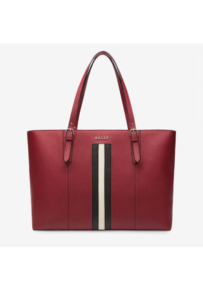 Bally Supra Large Red, Women's leather tote in garnet