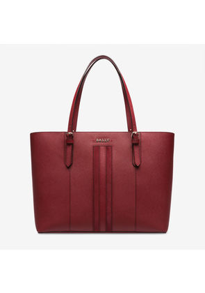 Bally Supra Large Red, Women's leather tote bag in garnet