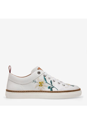 Bally Hellen White, Women's leather trainers in white