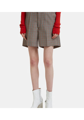 Micro Check Tailored Mini Shorts