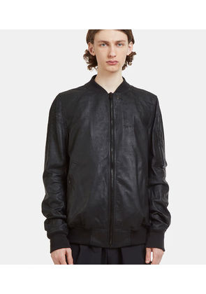 Raglan Sleeve Leather Bomber Jacket