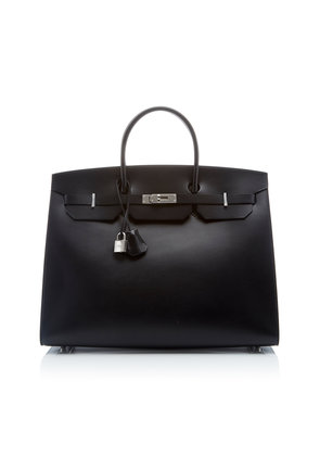 Heritage Auctions Special Collections Hermès 40cm Black Vache Hunter Leather Limited Edition Sellier Birkin