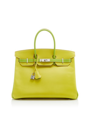 Heritage Auctions Special Collections Hermès 35cm Lime and Kiwi Epsom Leather Special Order Horseshoe Birkin