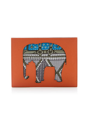 Heritage Auctions Special Collections Hermès Petit H Orange H and Blue Atoll Epsom Leather Pochette