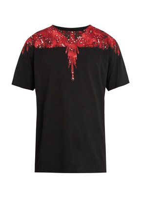 Camou Wing-print cotton T-shirt