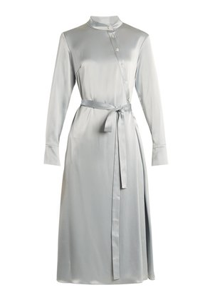 Melinda satin shirtdress