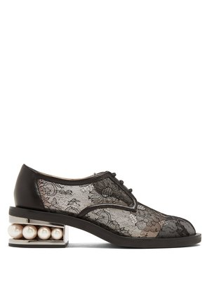 Casati pearl-heeled lace derby shoes