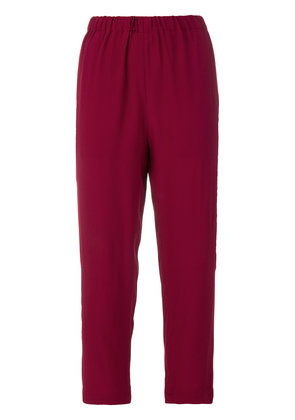 Marni cropped tailored trousers - Pink & Purple