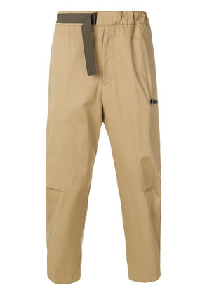 Oamc cropped trousers - Brown