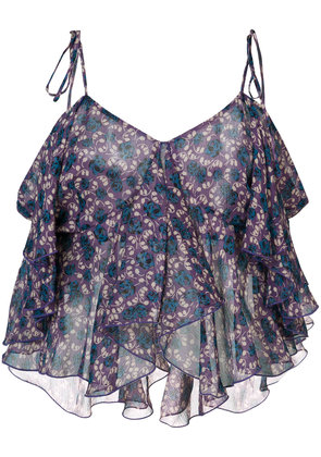 Anna Sui cropped tank top - Blue