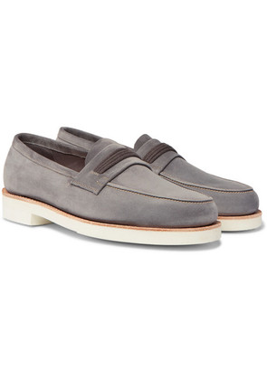 Tore Suede Penny Loafers