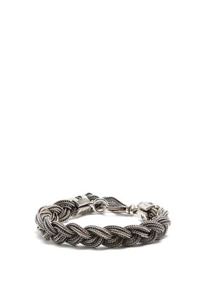 Braided sterling-silver bracelet