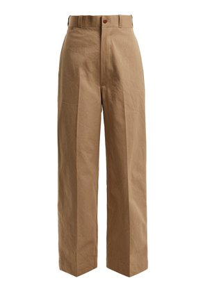 Military cotton chino trousers
