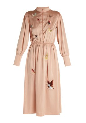 X Golborne Road Turner embroidered satin dress