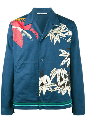 Valentino palm leaf print shirt - Blue