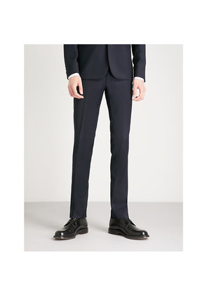 Slim-fit wool-jacquard tuxedo trousers