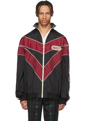 Gucci Red and Black Vintage Nylon Track Jacket