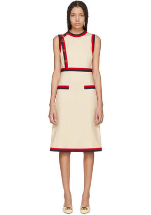 Gucci Beige Sleeveless A-line Dress
