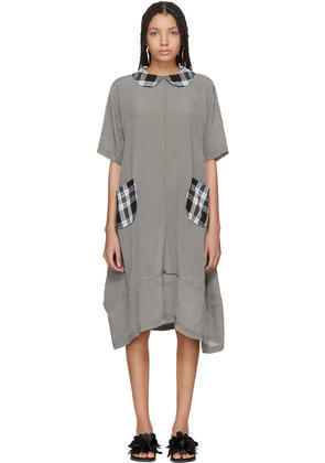 Tricot Comme Des Garçons White and Black Mix Check Dress