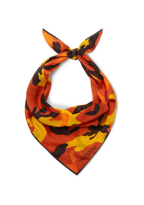 Camouflage-print Modal And Cashmere-blend Bandana