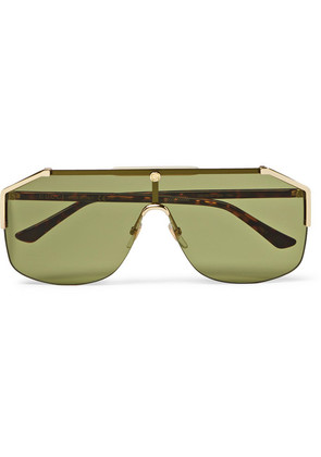 Endura Oversized Aviator-style Gold-tone And Tortoiseshell Acetate Sunglasses