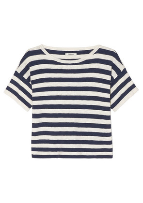 Madewell - Striped Cotton-blend T-shirt - White