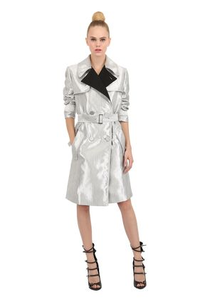 QUILTED JACQUARD COAT