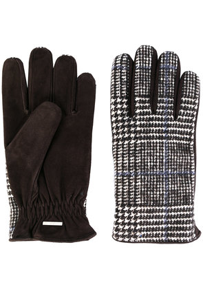 Lardini plaid fitted gloves - Brown