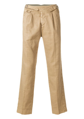 Entre Amis straight leg chinos - Brown