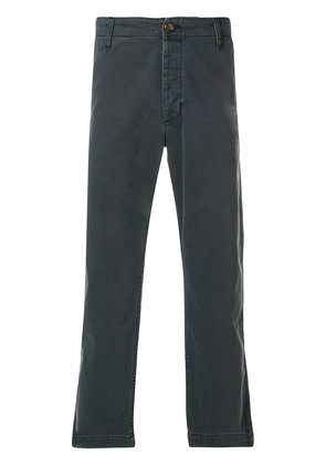 Gucci patch embellished cropped trousers - Black