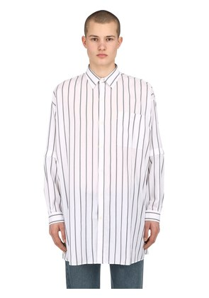 OVERSIZED STRIPED COTTON POPLIN SHIRT