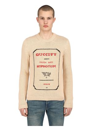 GUCCIFY INVITATION INTARSIA SWEATER