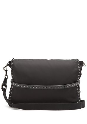 Rockstud crossbody messenger bag