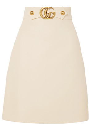 Gucci - Embellished Wool And Silk-blend Skirt - Cream
