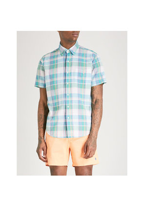 Checked relaxed-fit cotton shirt