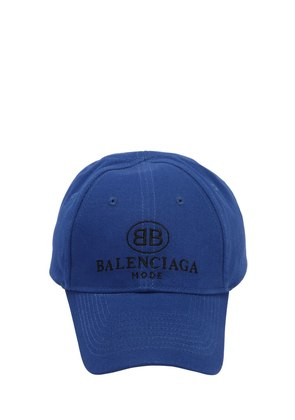 LOGO COTTON GABARDINE BASEBALL HAT