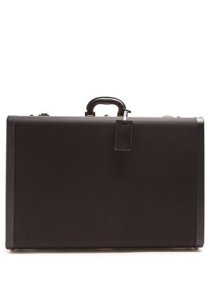 Saffiano leather-trimmed suitcase