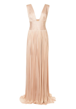 Maria Lucia Hohan pleated design gown - Pink & Purple