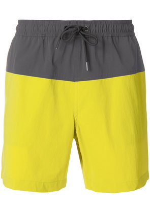Theory Cosmos swim shorts - Yellow & Orange