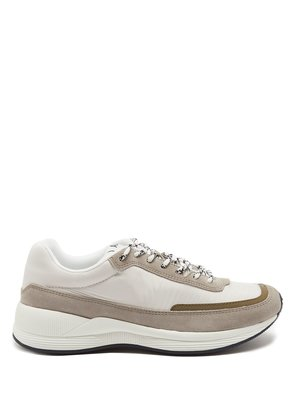 Running suede-panel shell trainers