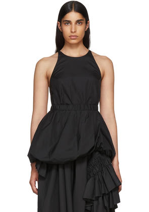 3.1 Phillip Lim Black Bubble Hem Tank Top