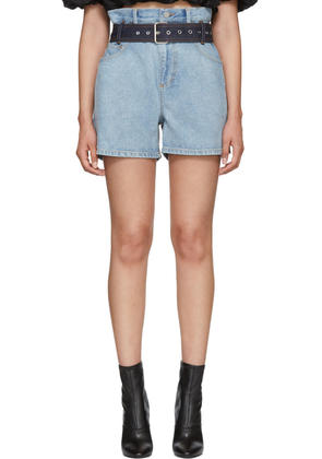 3.1 Phillip Lim Blue Denim Paper Bag Shorts
