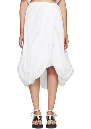3.1 Phillip Lim White Draped Bubble Skirt