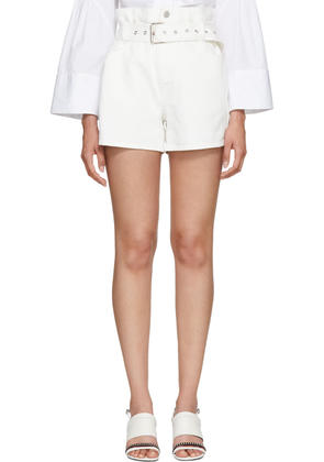 3.1 Phillip Lim Off-white Denim Paper Bag Shorts