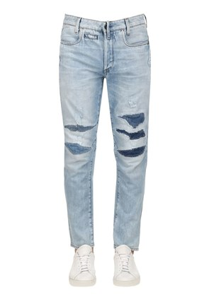 D-STAQ 3D TAPERED WASHED DENIM JEANS