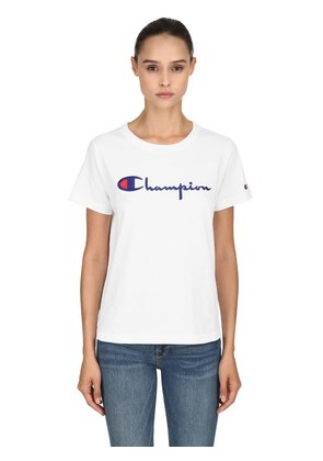 LOGO EMBROIDERED COTTON T-SHIRT