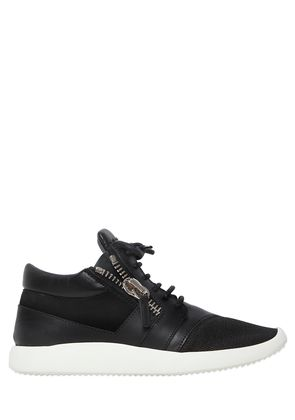 20MM LEATHER & SUEDE SNEAKERS